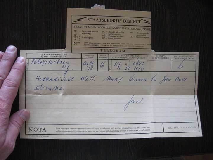 A Telegram from 1974